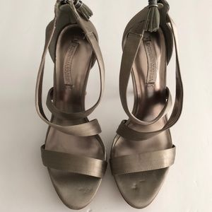 BCBGMAXAZRIA satin tan 9
